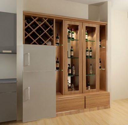 tủ rượu âm tường cho không gian nhỏ