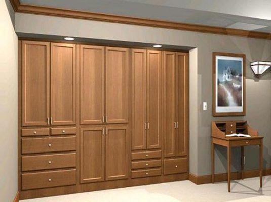 tủ gỗ phòng khách âm tường