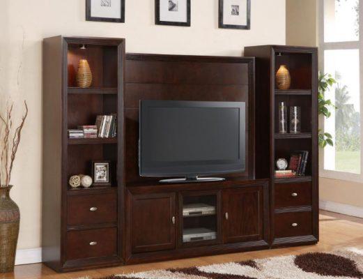 tủ phòng khách bằng gỗ gụ