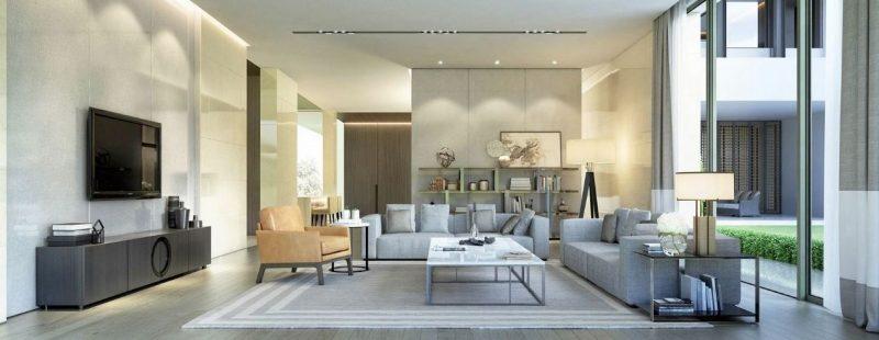 trang trí nội thất phòng khách rof